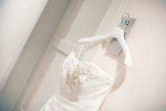Vestido del detalle de la novia Fotografía de archivo libre de regalías