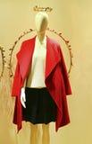 Vestido del invierno de las mujeres en maniquí Imagen de archivo libre de regalías