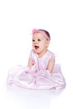 Vestido desgastando da princesa do bebé feliz muito bonito Imagem de Stock Royalty Free