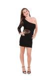 Vestido desgastando modelo fêmea novo fotos de stock