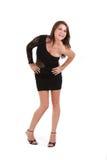 Vestido desgastando modelo fêmea novo foto de stock