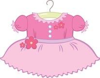 Vestido do bebé ilustração royalty free