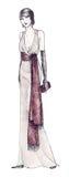 vestido do estilo dos anos 20 Fotos de Stock Royalty Free