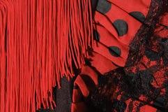Vestido do Flamenco fotografia de stock