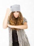 Vestido do inverno para uma menina da rudeza imagem de stock