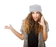 Vestido do inverno para uma menina do chuveiro fotos de stock