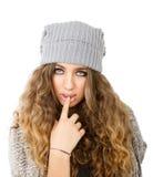 Vestido do inverno para uma menina sedutor imagens de stock