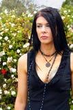 Vestido do preto da mulher fotografia de stock royalty free