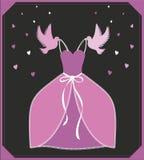 Vestido do rosa da ilustração do vetor Sinal ou cartaz para a loja, a propaganda ou o convite Cinderella - inspiração do askungen ilustração do vetor