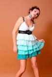 Vestido do verão da menina Fotografia de Stock