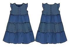 Vestido do verão da sarja de Nimes Fotografia de Stock