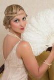 Vestido e headband do Flapper foto de stock royalty free
