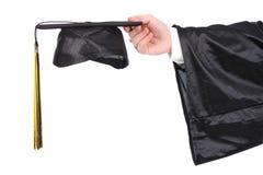 Vestido e mortarboard da graduação Imagem de Stock