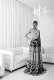 Vestido elegante branco foto de stock royalty free
