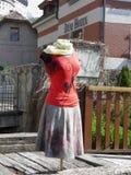 Vestido em um manequim da mulher imagem de stock