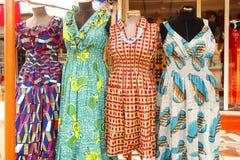 Vestido en Accra Ghana Foto de archivo
