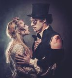 Vestido en la boda viste al zombi romántico Fotografía de archivo libre de regalías