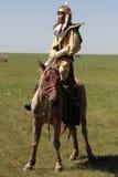 Vestido en los trajes antiguos del warrio Fotografía de archivo libre de regalías