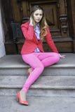 Vestido en rosa Imagen de archivo libre de regalías