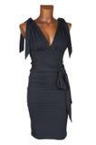Vestido fêmea preto imagens de stock