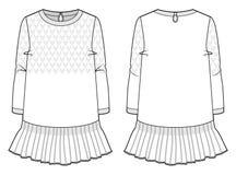 Vestido feito malha branco Imagem de Stock