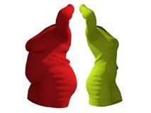 Vestido femenino obeso gordo del suéter contra cuerpo sano del ajustado libre illustration