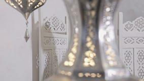 Vestido flaco del algodón de las lanas de la mujer del pelo del estilo de Marruecos de los muebles del encanto del modelo de la a almacen de metraje de vídeo