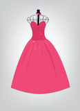 Vestido formal cor-de-rosa Foto de Stock Royalty Free