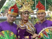 Vestido indonesio tradicional imágenes de archivo libres de regalías