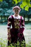 Vestido italiano do renascimento imagem de stock