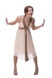 Vestido leve weared bonito da menina de dança Fotos de Stock Royalty Free