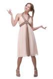 Vestido leve weared bonito da menina de dança fotografia de stock royalty free