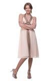 Vestido leve weared bonito da menina de dança Imagens de Stock