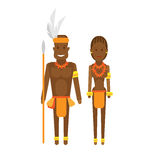 Vestido nacional de África do Sul Foto de Stock Royalty Free