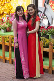 Vestido nacional do Ao Dai Vietnamese fotografia de stock royalty free