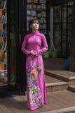 Vestido nacional do Ao Dai Vietnamese foto de stock royalty free