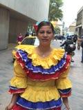 Vestido nacional en Colombia Fotografía de archivo libre de regalías