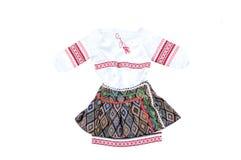 Vestido nacional ucraniano para a menina Imagens de Stock