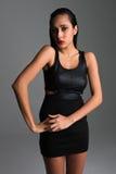 Vestido negro Fotografía de archivo libre de regalías