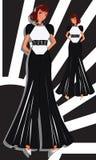 Vestido negro 2 Foto de archivo libre de regalías