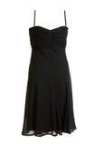 Vestido negro del satén de la tarde Fotografía de archivo