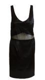 Vestido negro del satén de la tarde Fotos de archivo libres de regalías