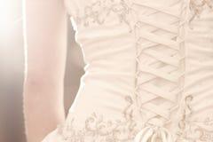Vestido nupcial do corpete Imagem de Stock Royalty Free