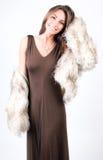 Vestido para arriba y sonrisa Imagen de archivo
