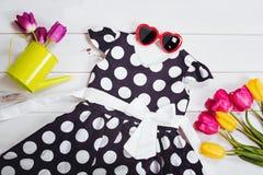 Vestido para la niña Ropa y accesorios del niño Imagen de archivo libre de regalías