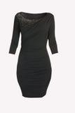Vestido preto isolado imagem de stock