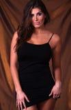 Vestido preto 'sexy' Fotos de Stock