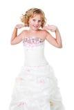 Vestido que desgasta de la muchacha adolescente activa linda aislado Imagen de archivo libre de regalías