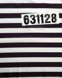 Vestido rayado para los presos imágenes de archivo libres de regalías