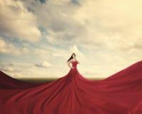 Vestido rojo Imagen de archivo libre de regalías